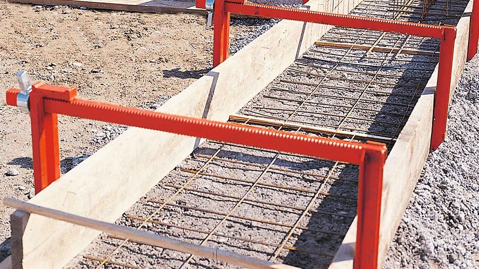 Zum Schalen bis zu 90 cm breiter Streifenfundamente.