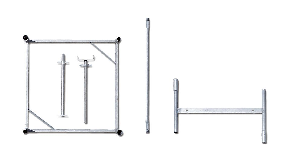 Sa samo 5 sistemskih komponenti i 63 cm područja vretena moguća je montaža svake željene visine tornja