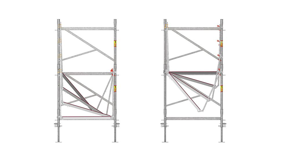 Veilige montage zonder bijkomende onderdelen dankzij het specifieke design met vloeren en de doorlopende borstwering