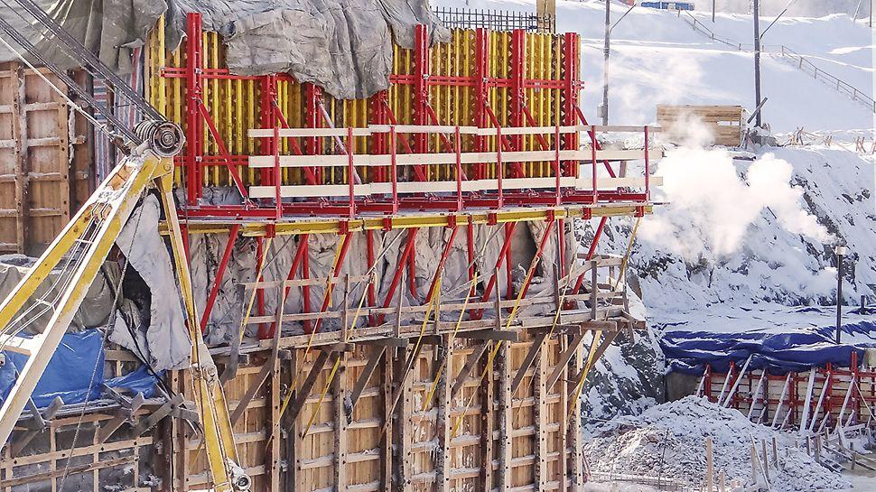 Нижне-Бурейская ГЭС - одностороннее бетонирование