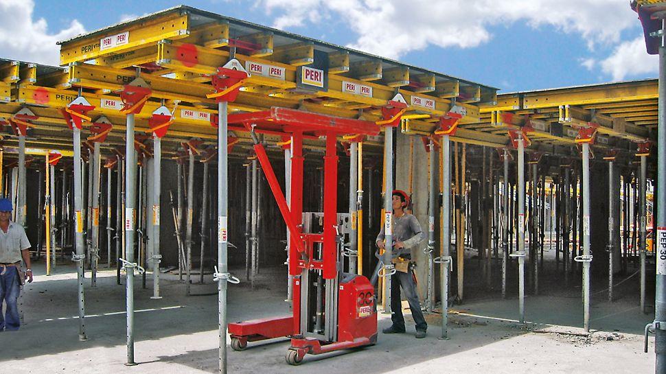 Dostępne są cztery standardowe wymiary stołów. Są one dostarczane na plac budowy w stanie gotowym do użycia.