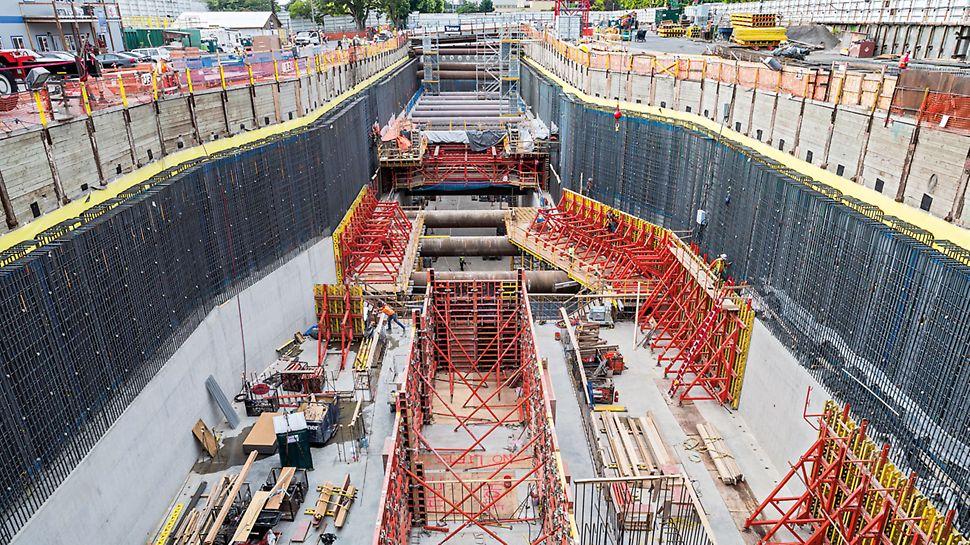 Capitol Hill Station, Seattle, SAD - PERI sistemi oplate i skele TRIO, VARIO GT 24, SB okvirni podupirač jednostrane oplate, MULTIFLEX, MULTIPROP i PERI UP nadopuna su sveobuhvatnom projektnom rješenju.
