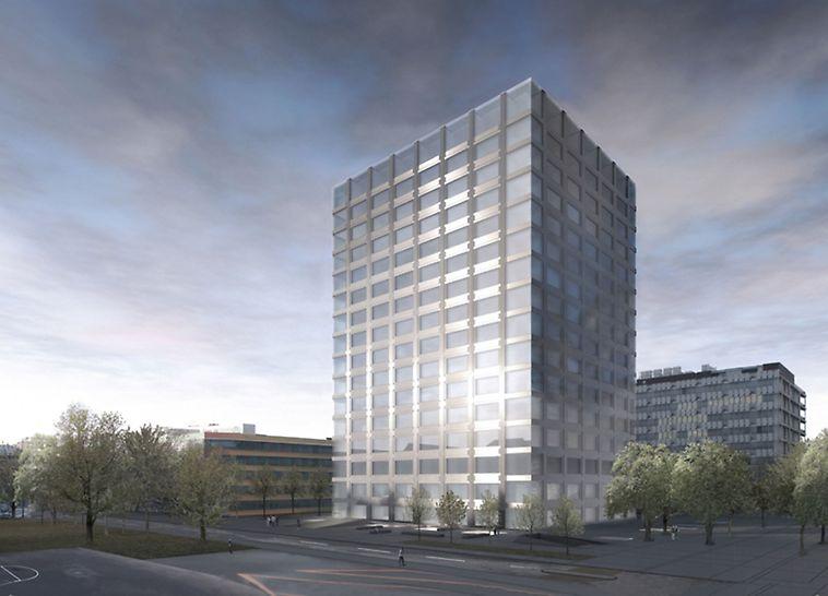 Biozentrum Uni Basel, Visualisierung des fertigen Gebäudes