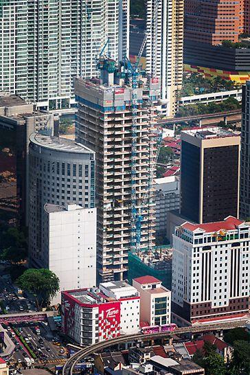 Progetti PERI - JKG Tower, Jalan Raja Laut, Kuala Lumpur, Malesia: soluzione completa per casseforme, impalcature di sostegno e formazione del team in cantiere