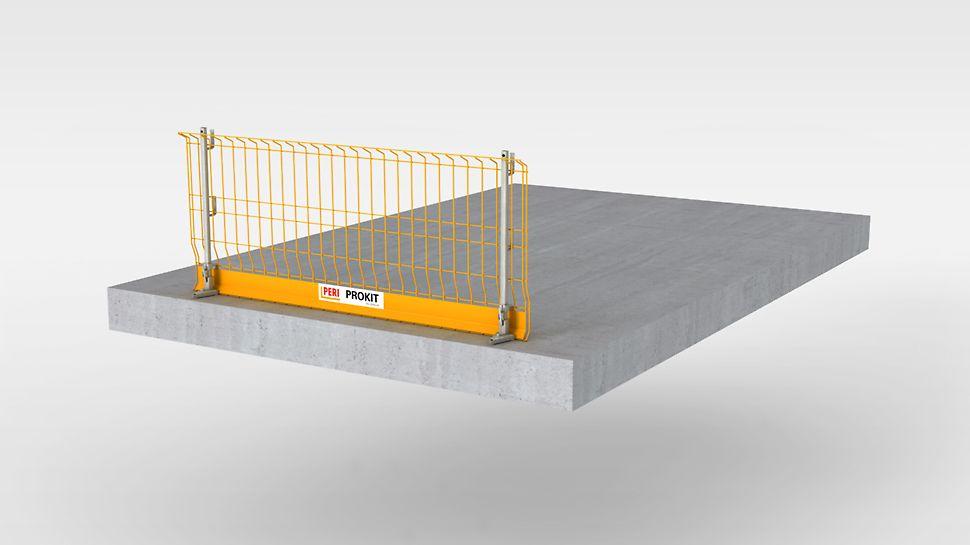 Sikkerhedssystemet til midlertidige rækværk