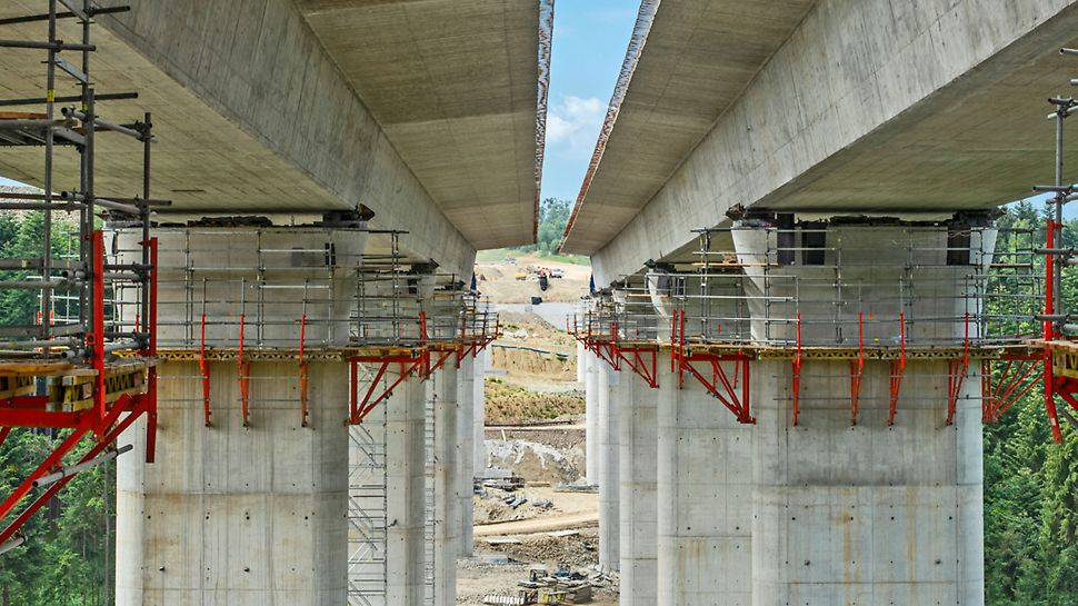 Budowa drogi ekspresowej S7 Lubień - Rabka-Zdrój, odcinek I - obiekt 14. Fot. Wojciech Dziedzic
