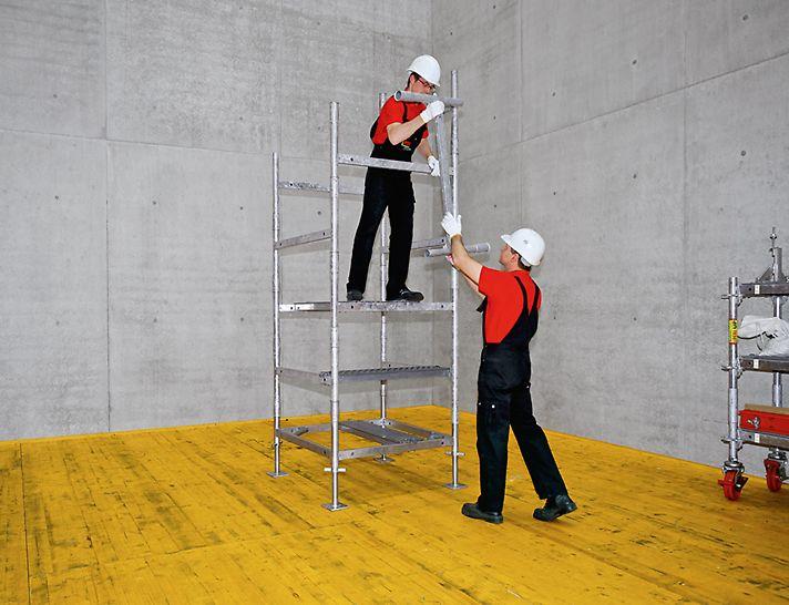 El bastidor pesa menos de 7 kg y permite realizar el montaje de manera ergonómica y rápida
