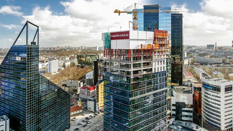Najväčšie administratívne budovy v centre Tallinnu