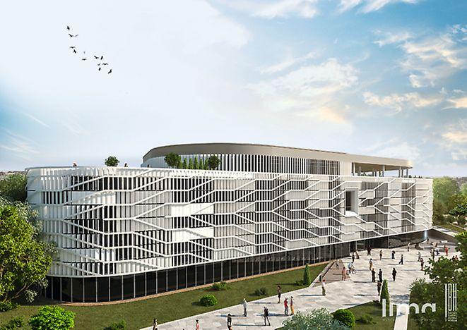 Az oktatási épület látványterve. Készítették: Lima Design Kft. és Bánáti + Hartvig Építész Iroda Kft. Forrás: KEDO Zrt.