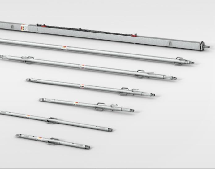 RS strekk/trykkstøtter for å støtte og justere forskaling