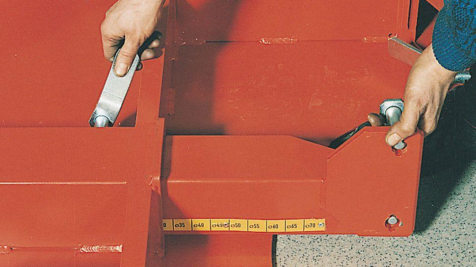 Betonointitaso SRS voidaan asentaa ilman nosturia. Tasossa on kiinteät säätötapit.