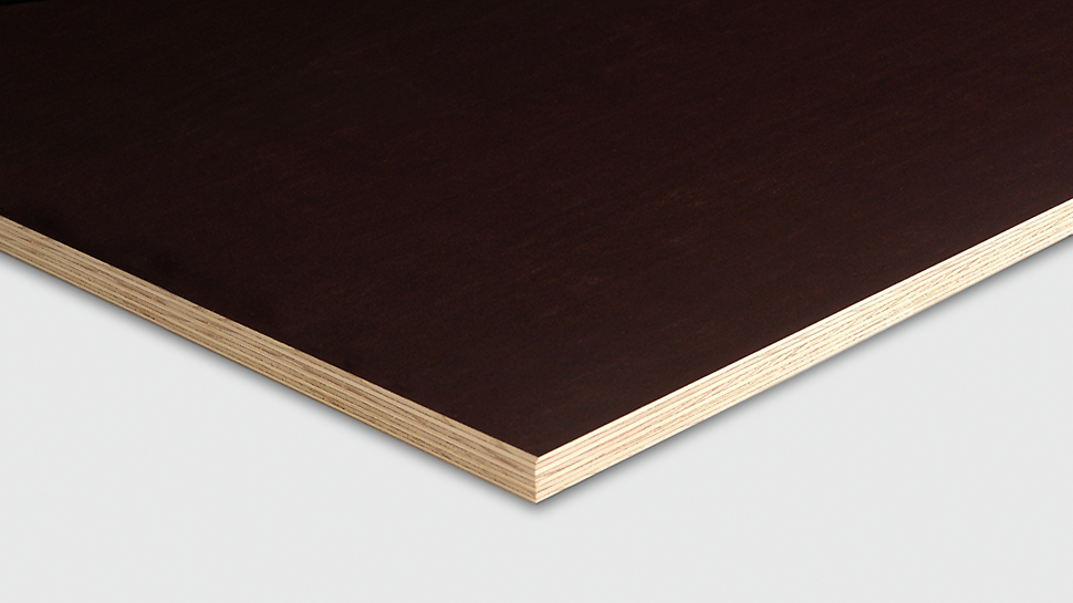 Betonářská deska PERI Pine má konstrukci z 9ti vrstev borovicové dýhy.