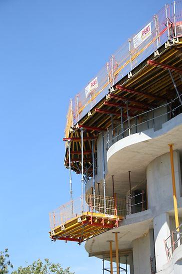 Recette à matériaux PERI suivant l'évolution de l'ouvrage en construction
