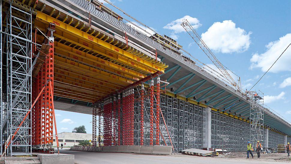 Die Stützen sind sehr flexibel einsetzbar – von der Bauwerkssanierung bis in den Brückenbau.