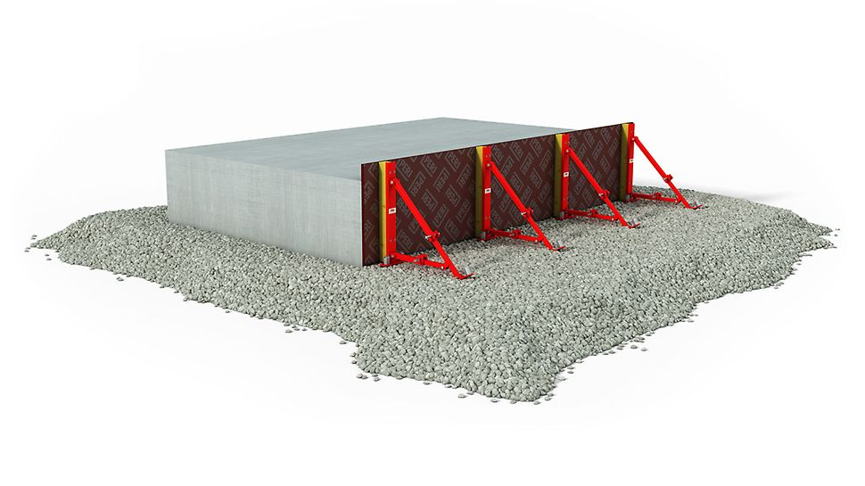 Bodenplatten bis 60 cm Höhe schnell und wirtschaftlich abschalen