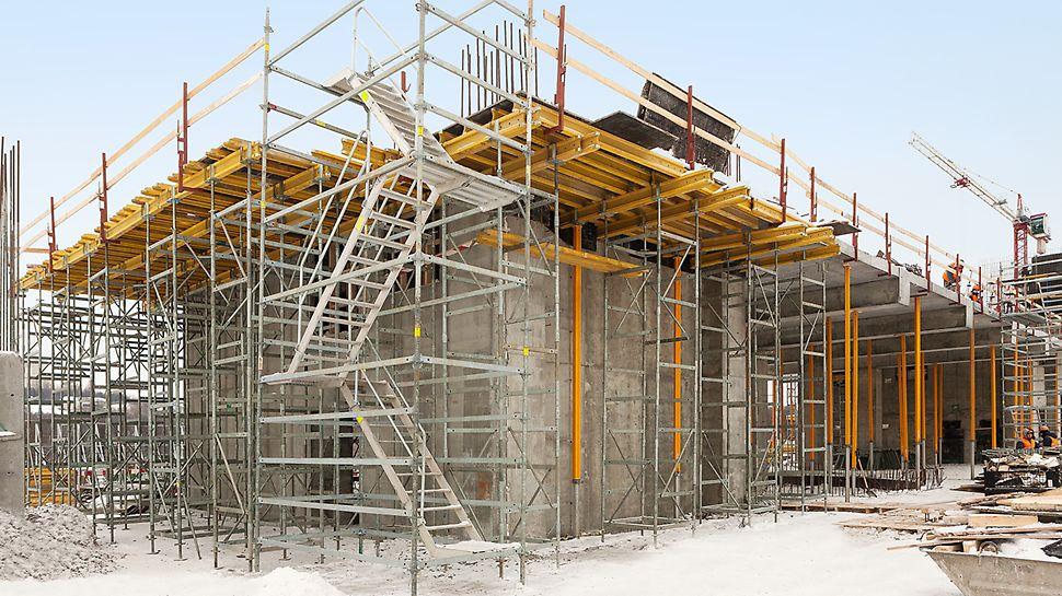 Лестница доступа, реконструкция бассейна, плавательный центр в Лужниках, опалубка перекрытий