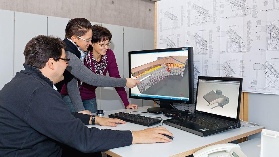Aquatics Centre, Londýn - tím technikov vo Weissenhorne pre 3D návrhy