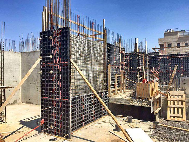 מערכת דואו לקירות - מערכת תבניות קלות לעבודה ידנית ליציקת קירות