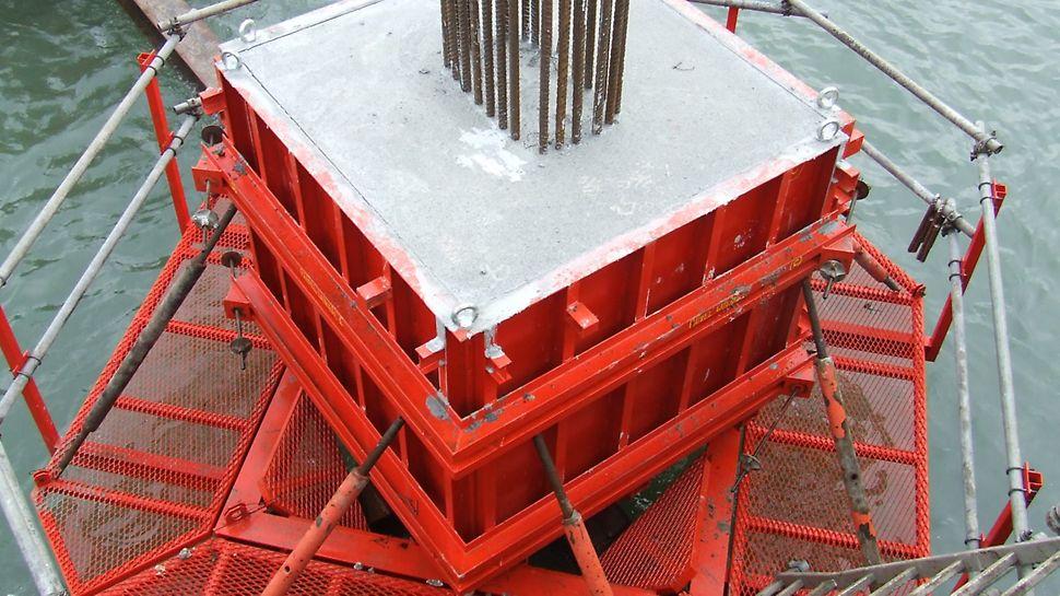 Reabilitação dos Cais entre Santa Apolónia e o Jardim do Tabaco - Maciço betonado