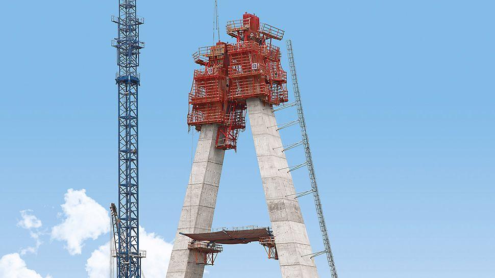 Most Lekki Ikoyi: Mostovka je v délce 225 m zavěšena na jediném pylonu, vysokém 90 m.