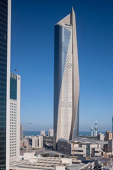 Al Hamra Tower, Kuwait City, Kuwait - The Al Hamra Tower is situated on the eastern lifeline of Kuwait City, near the characteristic water towers.
