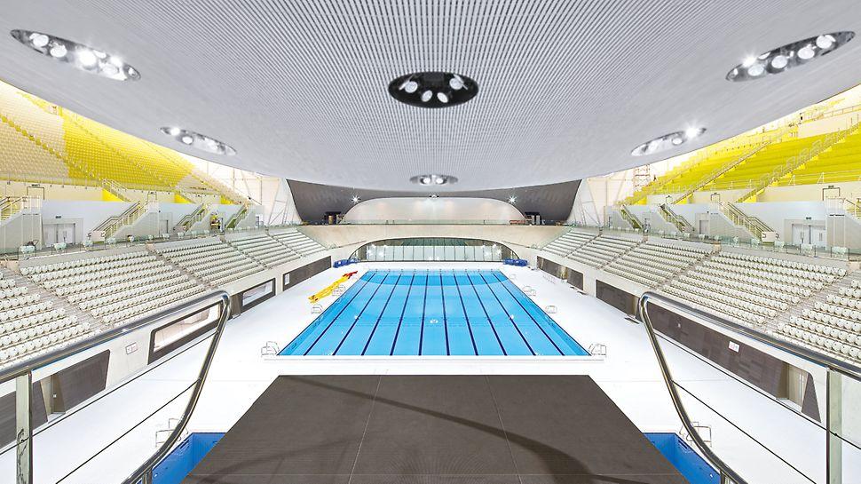 Aquatics Centre, Londýn - mimoriadny pohľadový betón