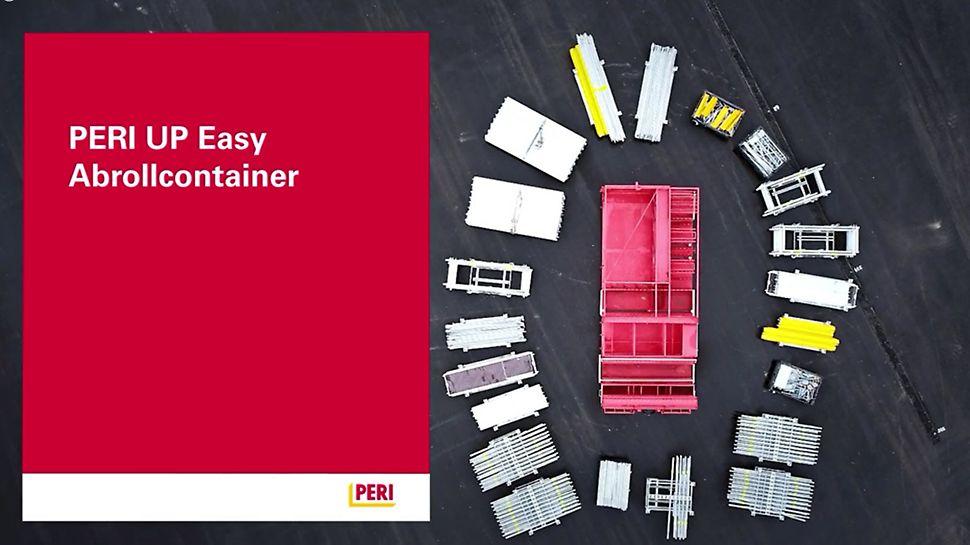 Der Abrollcontainer der Firma Weyres Gerüst-Transport-System GmbH ist ideal für den Transport und die Lagerung vom Fassadengerüst PERI UP Easy in der Breite 67 geeignet.