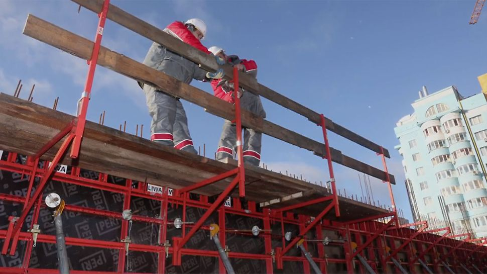 The functions and advantages of the LIWA panel formwork in a well-structured info clip.