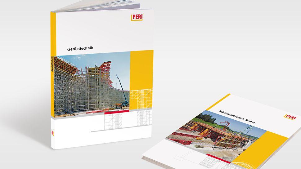 A PERI Technológiai Kézikönyv kiadványai - témától függően - 120 és 160 oldal terjedelműek, angol és német nyelven elérhetők: Bridge Formwork Technology, Tunnel Formwork Technology, Formwork Technology for Architectural Concrete, Self-climbing Technology, Scaffolding Technology