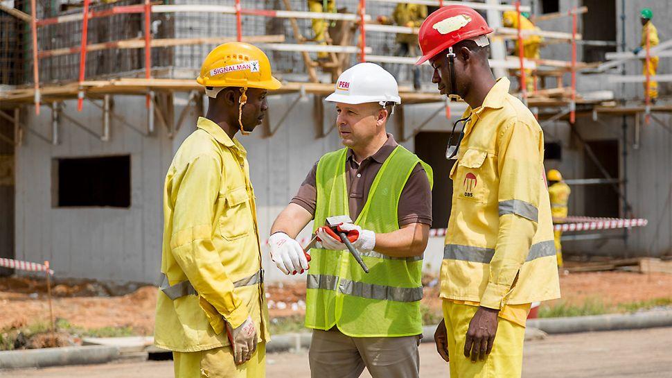 Die Unterstützung durch den PERI Spezialisten verkürzte die Einarbeitungsphase und beschleunigte den Bauablauf.