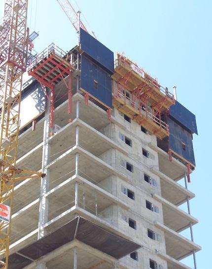 פלטפורמות עבודה מטפסות עבור קירות חיצוניים