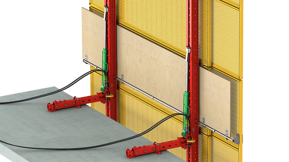 Can be used as protection panel as well as with supplementary working platforms.