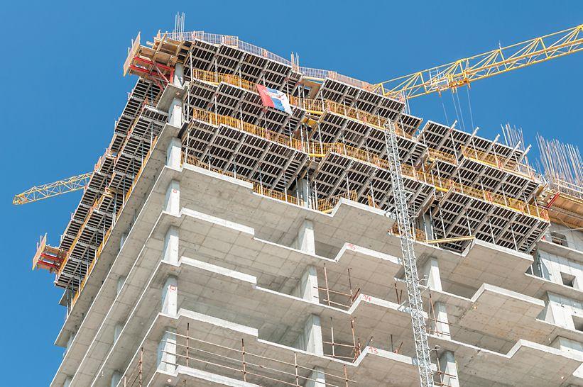 BW Residences imaju 296 stanova različitih struktura, od dvosobnih do petosobnih, na 20 spratova.