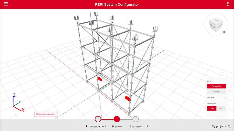 PERI CAD ermöglicht automatisiert die Erstellung von Traggerüsten mit modernsten Planungstools.