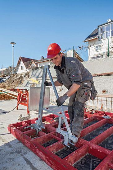 Het modulaire MXK-systeem bestaat uit lichtgewicht systeemonderdelen die vooraf gemonteerd zijn. De montage kan op de grond gebeuren.