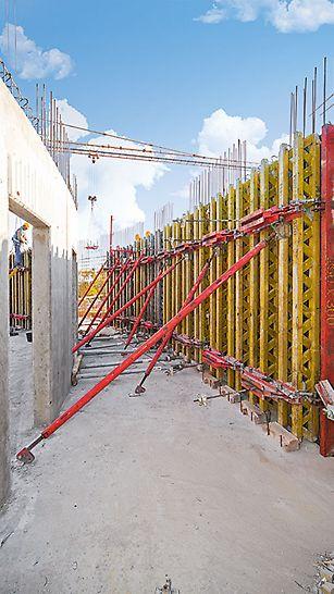 Ściany eliptyczne w deskowaniu RUNDFLEX.