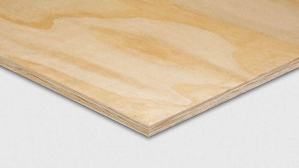PERI Elliottis Pine ješperploča i ima univerzaln uvozna za primenu u različitim oblastima, npr. u industriji ambalaže ili kao sekundarna oplatna ploča.