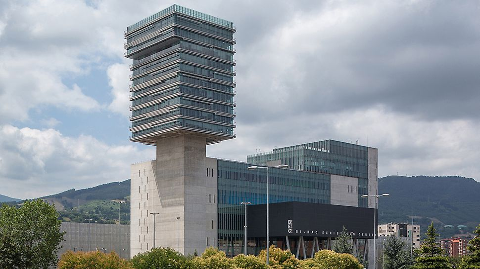 Exhibition centre Bilbao, Spain - The Bilbao Exhibition Centre, with its 103 m high tower, is the tallest building in the region of Vizcaya.