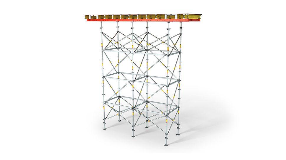 Гнучке регулювання по висоті для опалубних столів.