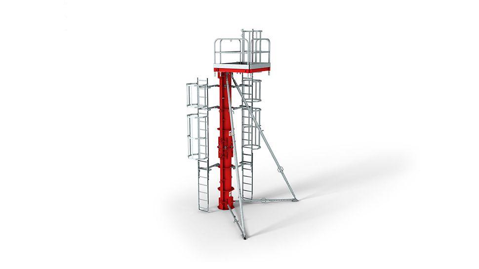 SRS Stålpelarform: Hög produktionskvalitet för att garantera en perfekt betongyta