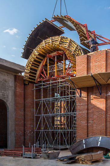 Фото Собор Казанской иконы Божией матери опалубка peri пери реконструкция собора  собор в Казани