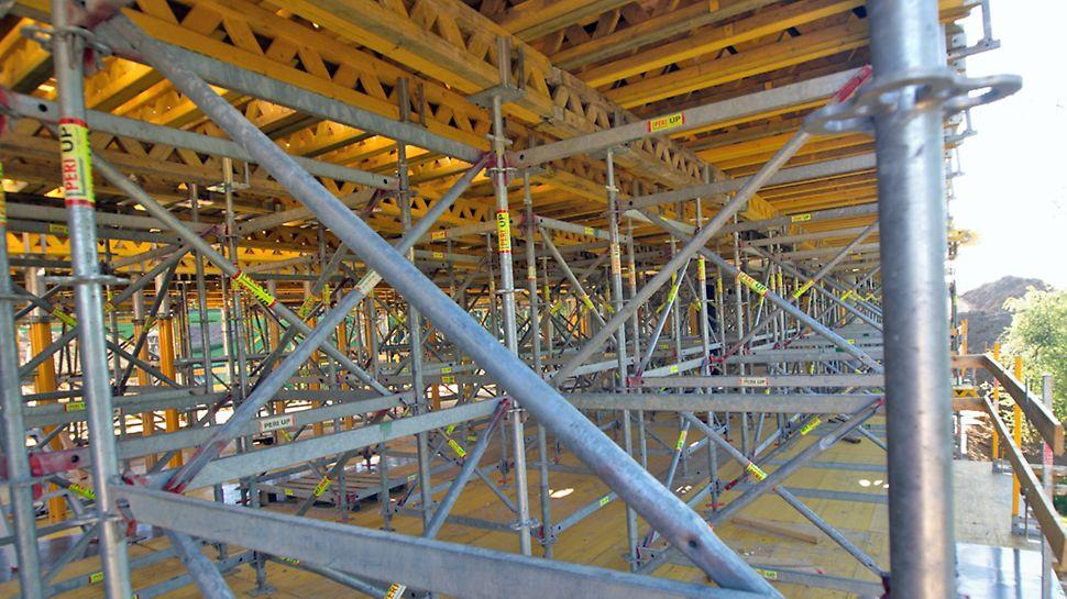 Varberg bro - Arbejdsdækket med PERI UP ROSETT til dækforskallingen.
