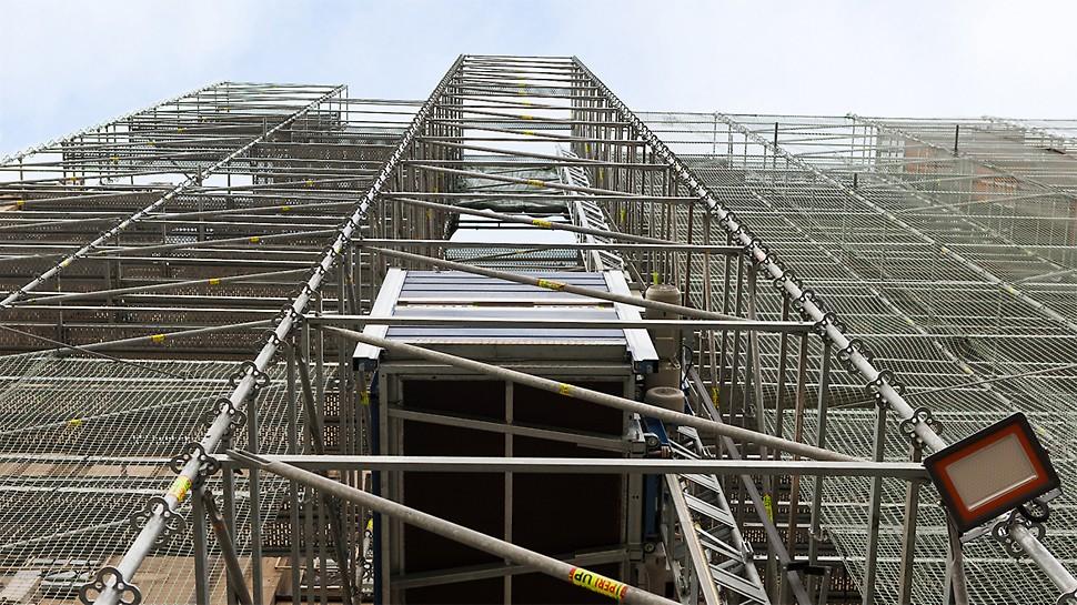 Строительные леса PERI обеспечили абсолютную безопасность сотрудников площадки с учетом работы на высоте 172 м.