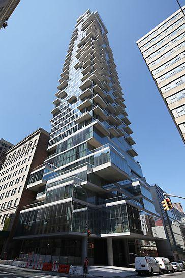 Nach der Vollendung Ende 2016 ist das 56 Leonard Street eines der höchsten Appartementhäuser der Vereinigten Staaten