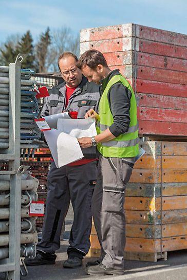 Простая и максимально оптимизированная процедура возврата оборудования из аренды благодаря услугам технической поддержки и PERI Service team