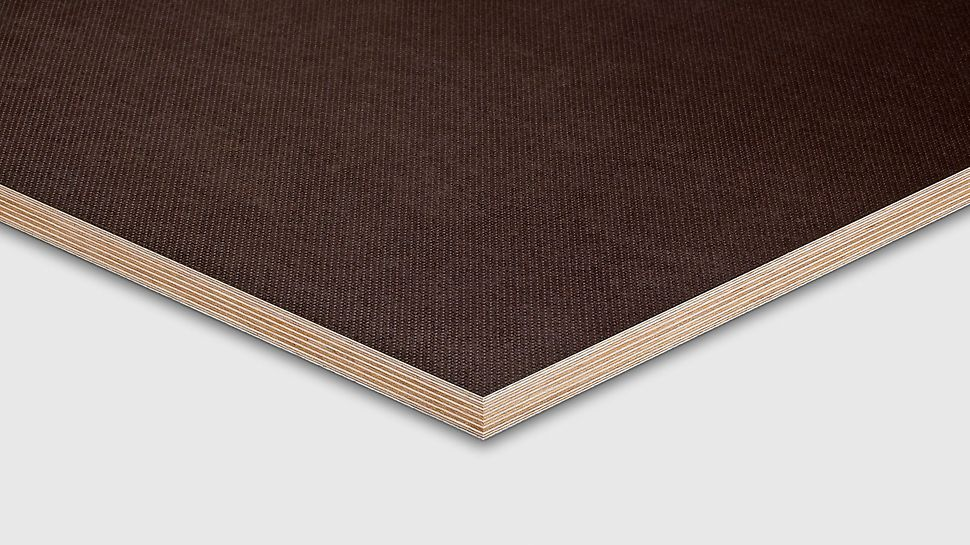 PERI halkskyddsplywood är anpassad för halkskydd med räfflat ytmönster och kantförseglad med utomhusfärg.