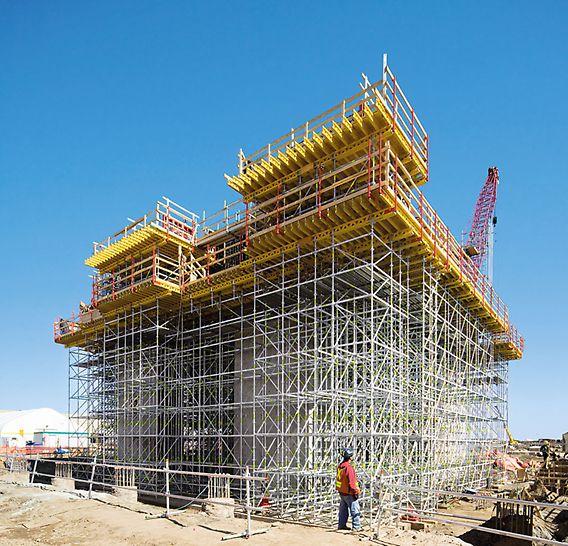 PERI UP Rosett Flex Traggerüst: Dank des modularen Aufbaus lässt sich das Gerüst allen Lasten optimal anpassen.