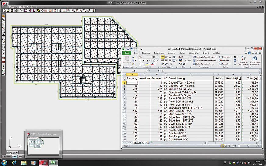 El programa de software veloz y sencillo para el diseño diario de proyectos de encofrado