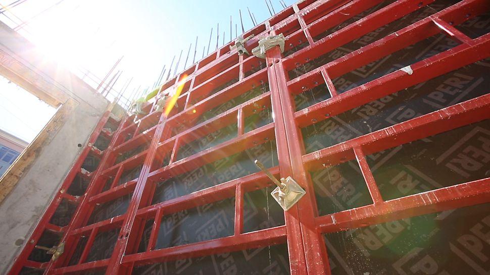 рамнощитовая опалубка, крупнощитовая опалубка, опалубка стен, монолитное строительстве