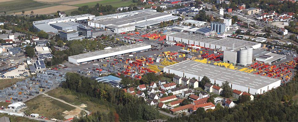 Společnost PERI, založená v lednu 1969, byla zpočátku pouze projekční kanceláří. Teprve v dubnu 1969 byla zahájena výstavba malé výrobní haly na pozemku na předměstí Weissenhornu. Od té doby se areál společnosti PERI stále zvětšoval a rozšiřoval.